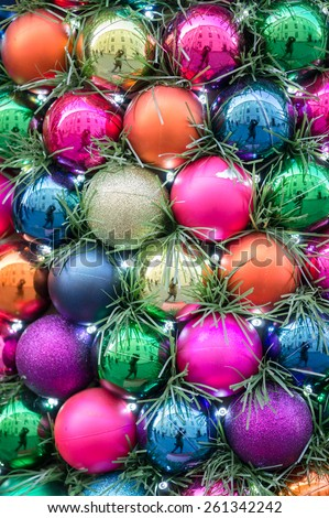 Background of colorful balls - stock photo