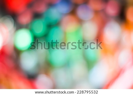 Background of colorful bokeh