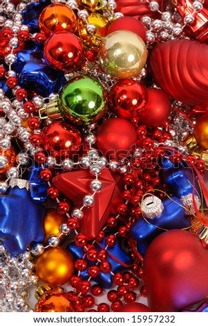 Background of colorful christmas balls - stock photo