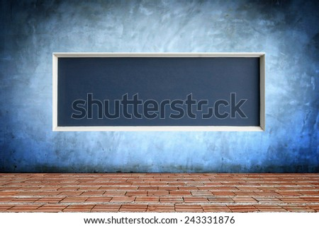 Background of concrete wall with frame texture