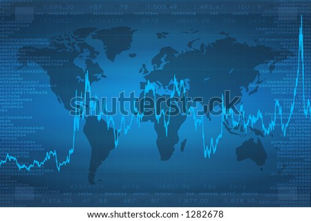 Background of continents. good to use for finances and business or something related to the world. - stock photo