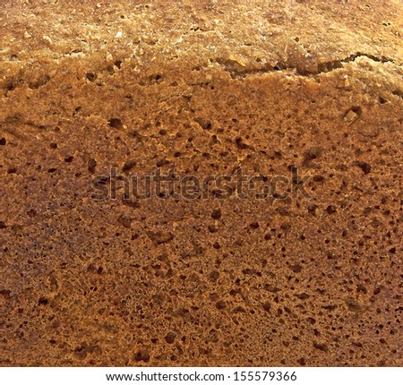 Background of crust of bread
