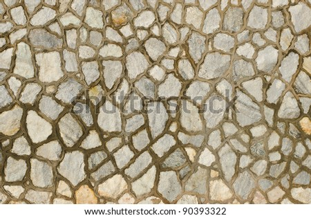 Background of decorate granite stone wall surface