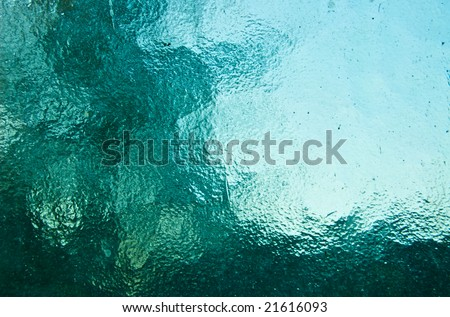 background of emerald stained glass - stock photo