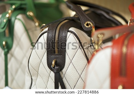 Background of fashion handbags - stock photo