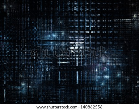 Background of fractal, geometric and technological texture elements for projects on the subject of industry, technology,  and computers.