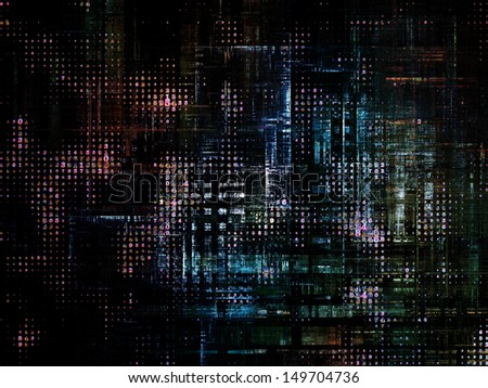 Background of fractal, geometric and technological texture elements for projects on the subject of industry, technology,  and computers. - stock photo