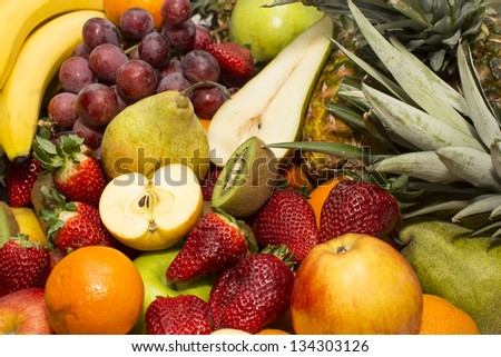 background of fresh fruits
