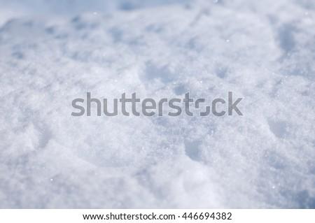 background of fresh snow - stock photo