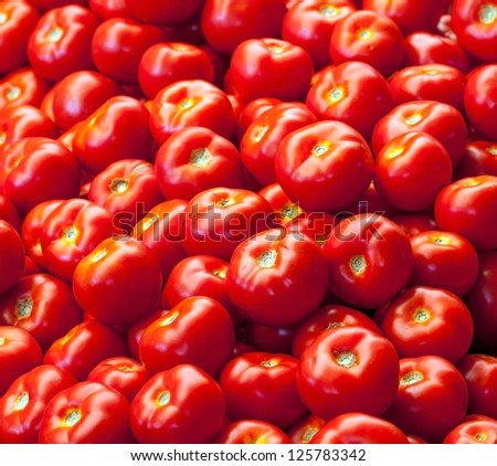 background of fresh tomatoes