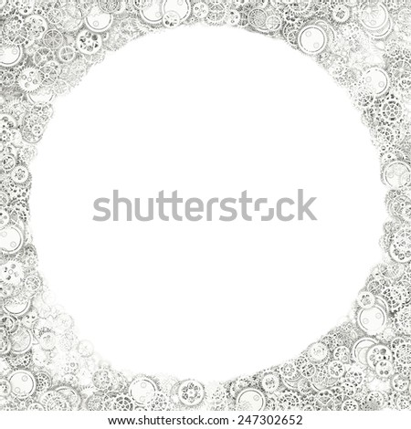 Background of gears - stock photo