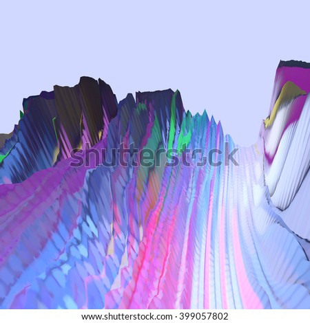 Background of glitch manipulations. Abstract colorful shapes. It can be used for web design and visualization of music - stock photo