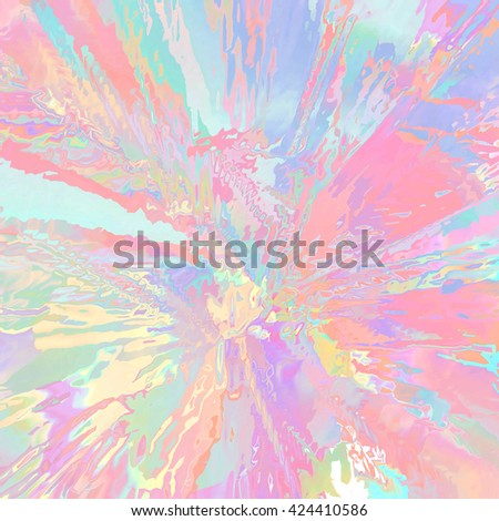 Background of glitch manipulations. Abstract flow of glass texture in rainbow colors. It can be used for web design and visualization of music - stock photo
