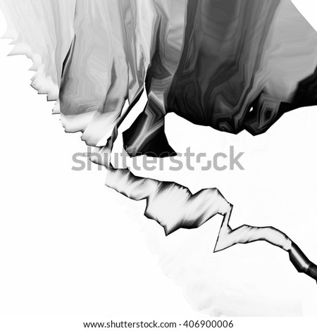 Background of glitch manipulations. Black and white abstract shapes. it can be used for web design and visualization of music. - stock photo
