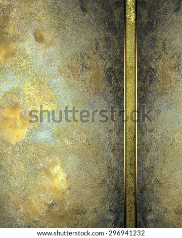 Background of gold metal plates for the label. Element for design. Template for design. Abstract grunge background.