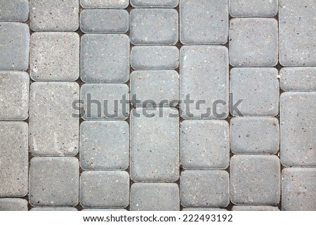 Background of gray paving stones. - stock photo