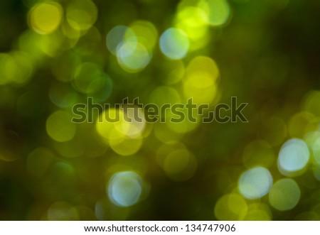 background of green bokeh - stock photo
