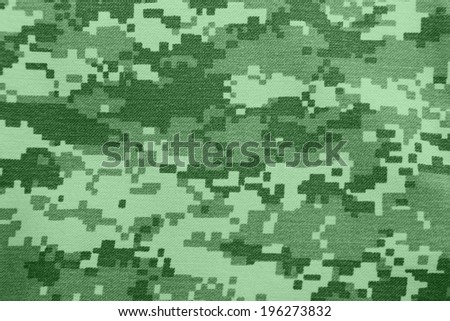 background of green digital camouflage pattern - stock photo