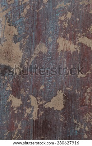Background of grunge red and blue painted cement wall  - stock photo