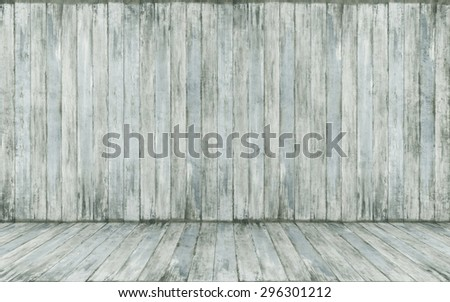 Background of grunge wood paneling - rendering - stock photo