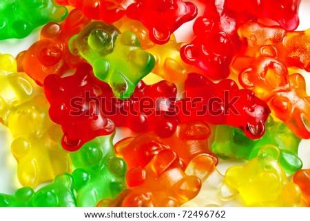 Background of gummi bears - stock photo