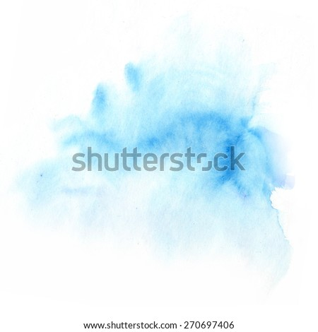 Background of hand-made watercolor blue spots