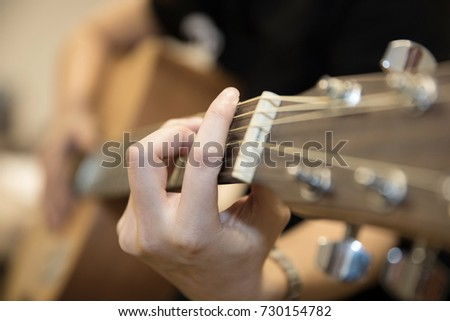 Country girl music stock images royalty free images vectors background of hand playing guitar prinsesfo Choice Image