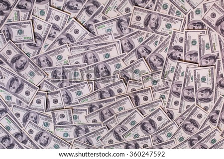 Background of hundred dollar bills, background of the money, hundred dollar bills front side. background of dollars, savings, black and white background of money - stock photo