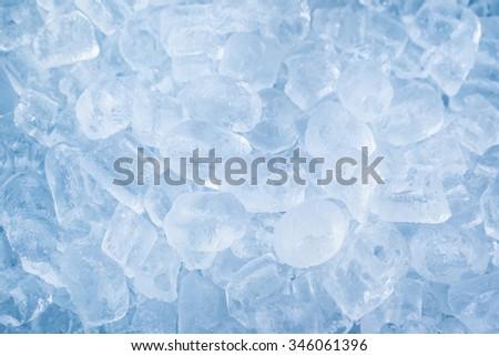 Background of ice cubes - stock photo