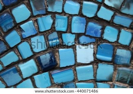 Background of light blue mosaic