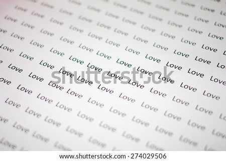 background of love words
