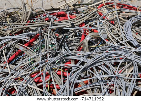 stock photo background of many abandoned electrical cables in a dump of recyclable material 714711952 old cables piled recycling stock photo 713264842 shutterstock Electric Resin Incense Burner at bayanpartner.co