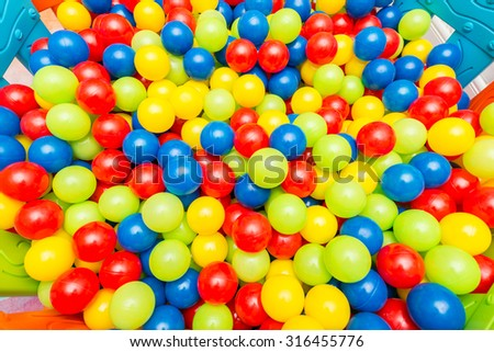 Background of many colourful balls