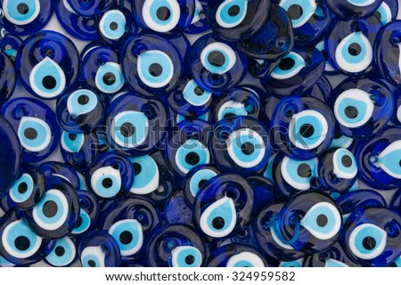 Background of many traditional Evil Eye Amulets