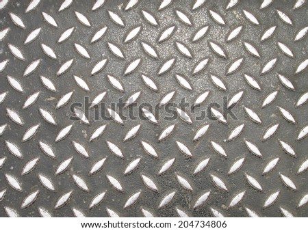 Background of metal diamond plate in brown silver color