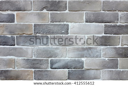 Background of modern brick wall texture - stock photo