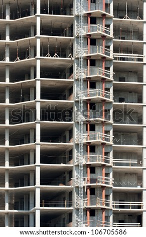 Background of modern building construction - stock photo