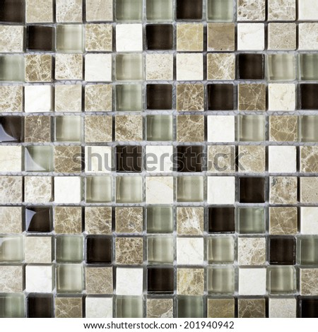 Background of Mosaic Stone. Mosaic surface of natural Armenian Stones - stock photo