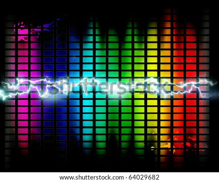 background of music  panel control with ray - stock photo