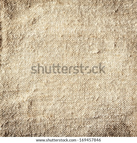 Background of natural burlap with a coarse woven texture and natural fibre - stock photo