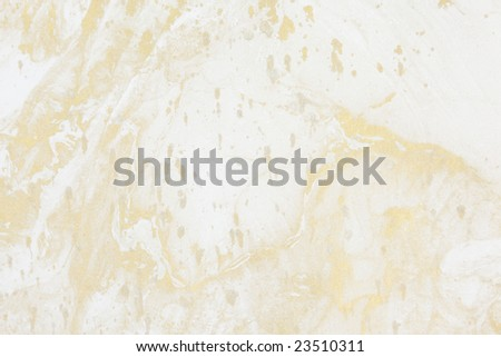 Background of natural rice paper with gold marbled design - stock photo