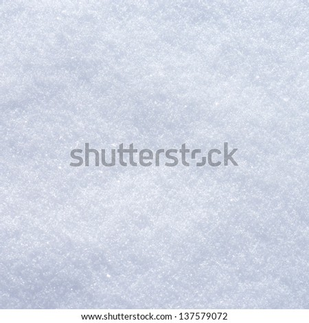 background of new fallen snow  - stock photo