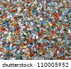 Background of numerous semi-precious stones - stock photo