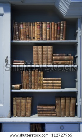 background of old books on shelf