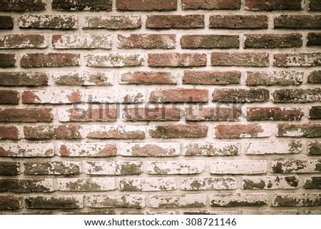 Background of old brick wall texture.
