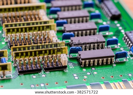 background of  old computer circuit board