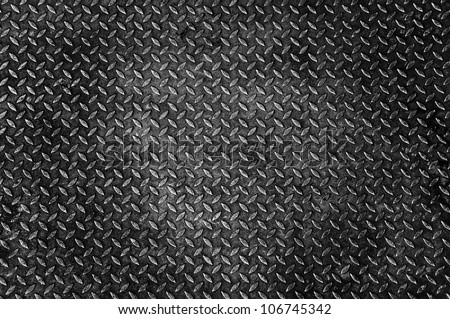 Background of old metal diamond plate - stock photo