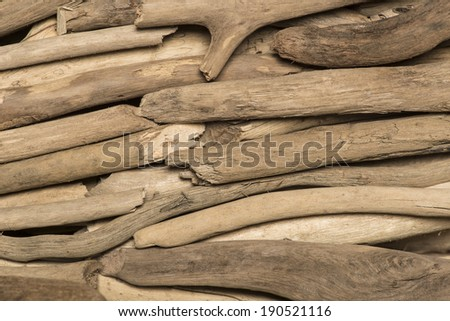 background of old polished wood sea, closeup - stock photo