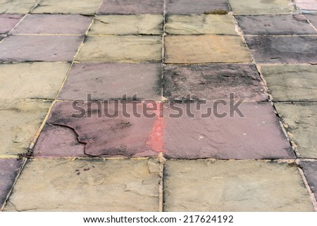 Background of old stone path. - stock photo