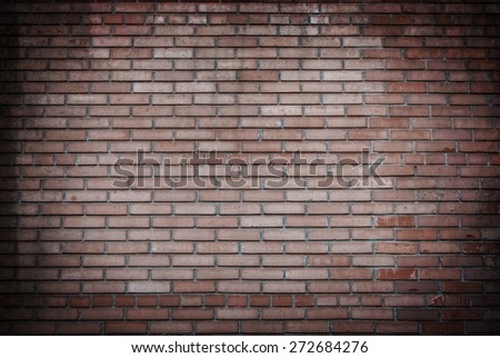 Background of old vintage and new brick wall - stock photo